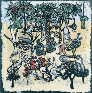 Margaret Preston\'s Adam and Eve in the Garden of Eden