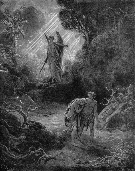Paul Gustave Doré\'s Adam and Eve Expelled
