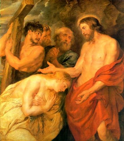 Peter Paul Rubens\' Christ and Mary Magdeline