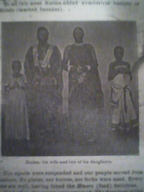 Kaima, his wife and two of his daughters