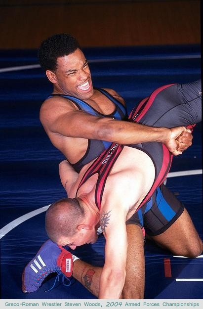Greco-Roman Wrestler Steven Woods, 2004 Armed Forces Championships