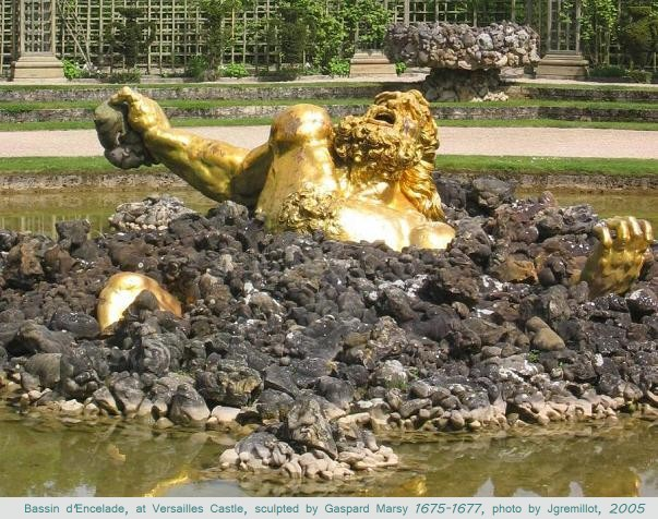 Jgremillot's Bassin d'Encelade, at Versailles Castle, Sculpted by Gaspard Marsy 1675-1677, photo 2005