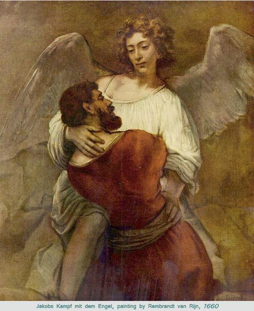 Rembrandt van Rijn's Jakobs Kampf mit dem Engel, 1660